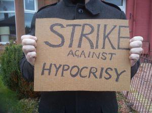 Strike against hypocrisy
