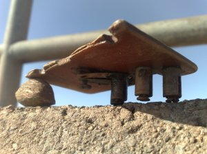 Beach structure.  Photo Chris Fremantle