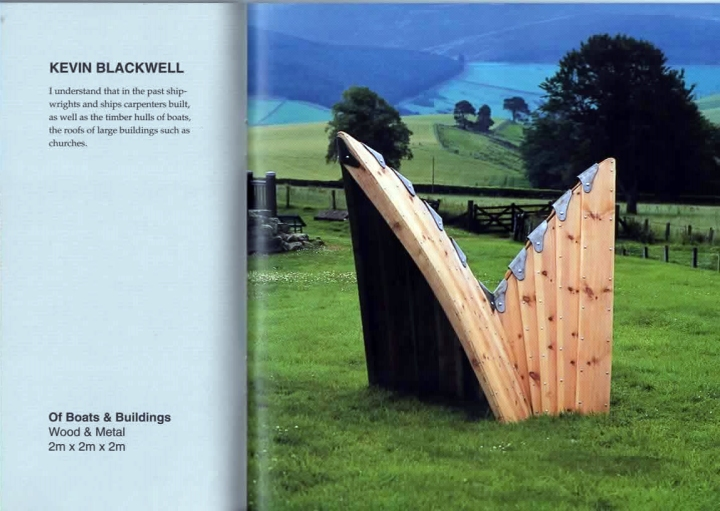 Of Boats and Buildings, Kevin Blackwell, 1997, Scottish Sculpture Open 9.  Photo: Eric Ellington