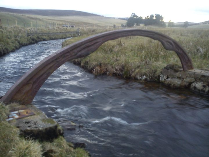 The result of a collaboration between two artists working with metal.  Photo Chris Fremantle (sorry for quality)