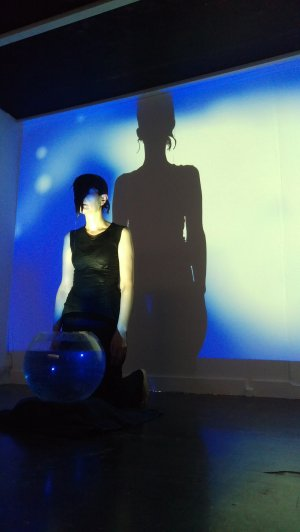 Maja Zeco performing her work 'Hold In/Breathe Out'
